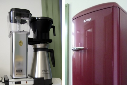 Kühlschrank, Kaffeemaschine im Business Center